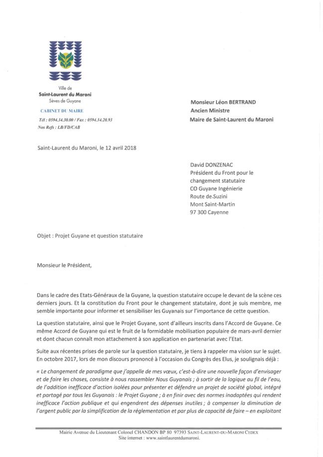 Léon BERTRAND et la question statutaire