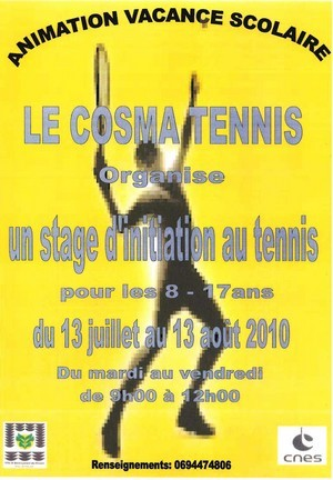 Stage d'initiation au tennis avec le Cosma tennis