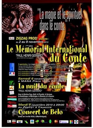 7ème edition du Mémorial International du Conte « PAUL HENRI GÉRARD »