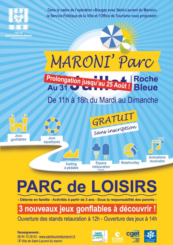 Bougez avec Saint-Laurent : le Maroni Parc, parc de loisirs gratuit pour la famille, joue les prolongations en août !
