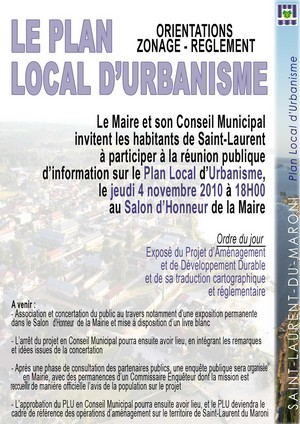 Le plan Local d'Urbanisme: Orientations-Zonage-Réglement
