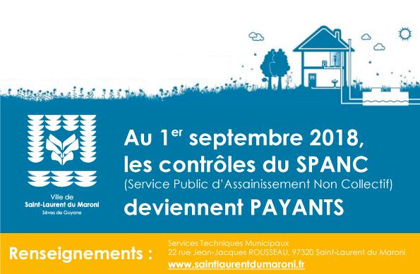 Assainissement non collectif : les prestations assurées dans le cadre du SPANC deviennent payantes à compter du 01 septembre 2018