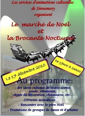 Marché de Noel et brocante nocturne organisé le 17 Décembre 2010 de 19h00 à 23h00 à Sinnamary