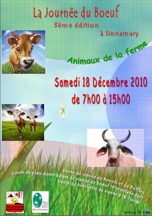 3ème édition de la journée du Boeuf, Samedi 18 décembre 2010 de 07h00 à 15h00 à Sinnamary.