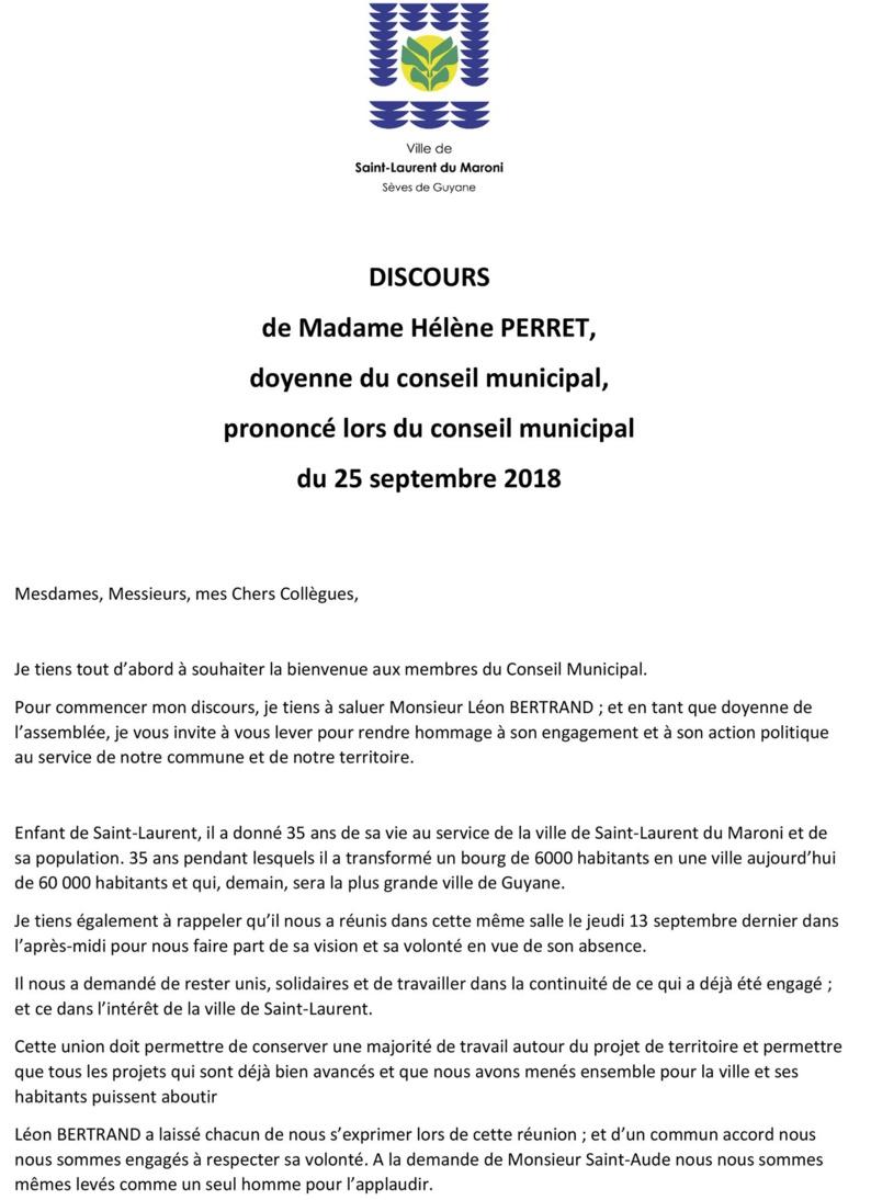 Élection du maire de Saint-Laurent et de ses adjoints