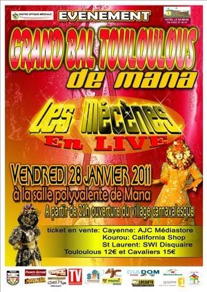 Grand bal touloulous de Mana du Vendredi 28 janvier 2011.
