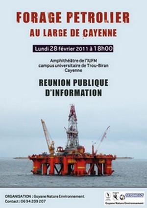 Réunion publique d'information relative au problématique du forage probable en eaux profondes au large de Guyane