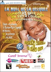 NEED SECURITY présente Francky VINCENT en show case à la médiathèque de Kourou, ce Samedi 23 avril 2011.