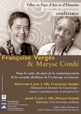Conférence du Patrimoine avec Maryse Condé et Françoise Vergès