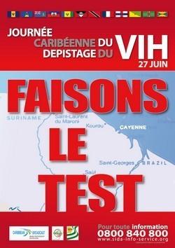 2nde édition en Guyane de la Journée Caribéenne du dépistage du VIH le 27 juin