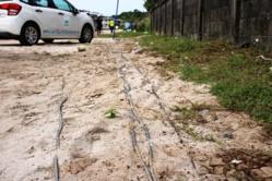 [Lutte contre les branchements électriques sauvages] : coupures de branchements électriques sauvages aux Sables Blancs