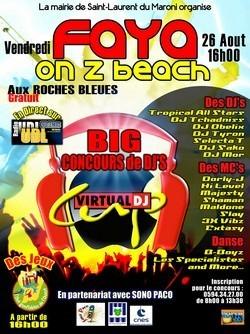 """Podium vacances : """"Faya on z beach"""" organisé par le service culturel de la ville"""