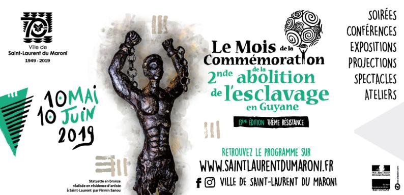 Retrouvez le programme complet du Mois de la commémoration de la seconde abolition de l'esclavage en Guyane