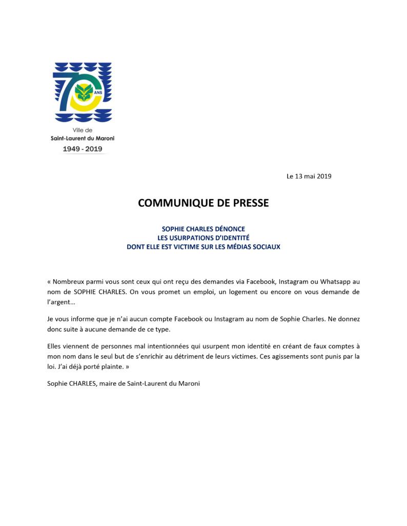 [Communiqué de presse] : Madame le maire dénonce les usurpations d'identité dont elle est victime sur les médias sociaux