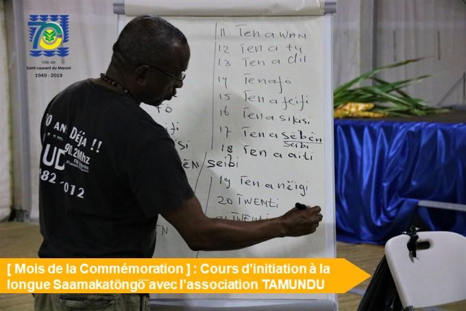 [Mois de la Commémoration] : retour en images sur les ateliers d'initiation à la langue Saamakatöngö