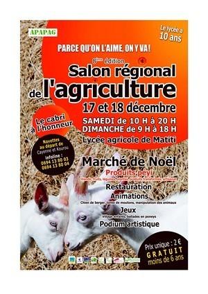 8ème Salon agricole régional au Lycée Agricole de Matiti, les 17 et 18 décembre 2011 organisé par l'A.P.A.P.A.G.