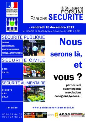Forum parlons Sécurité : publique, civile et alimentaire