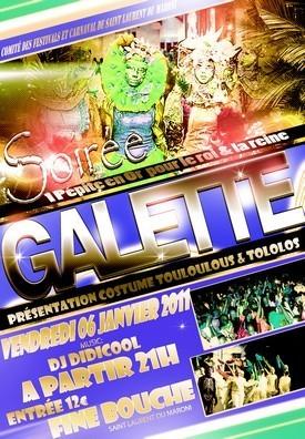 Le comité des festivals et carnaval de St-Laurent organise une soirée Galette
