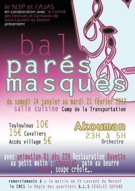 Bal parés masqués 2012 organisés par le N'3P et l'AJAS
