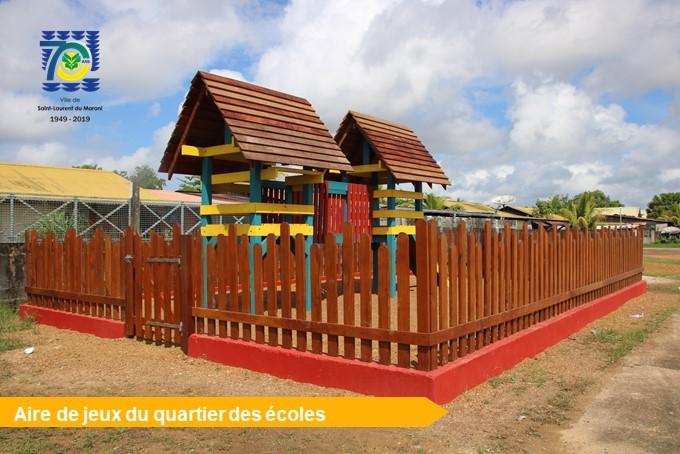 [Amélioration du cadre de vie] : constructions en cours d'aires de jeux dans les quartiers