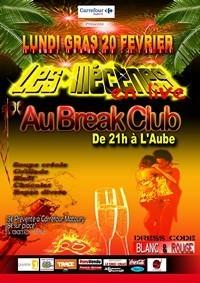 Soirée du Lundi Gras au Break Club à Rémire Montjoly face au Cric-Crac.
