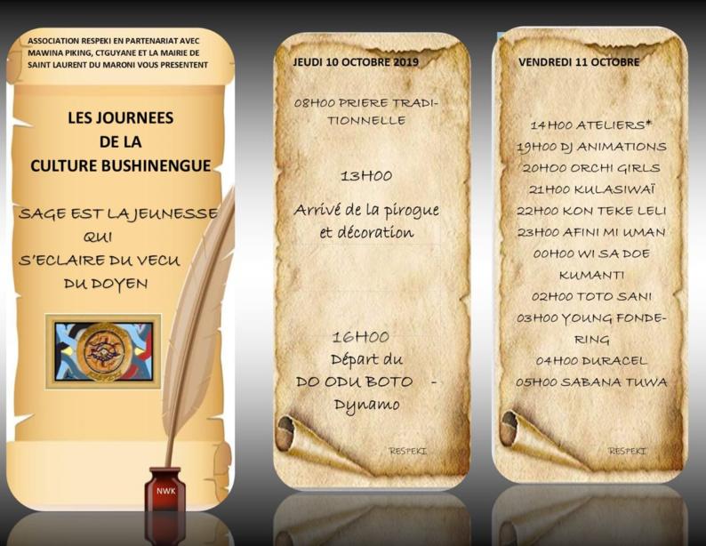 [CULTURE] : retrouvez le programme des Journées de la culture bushinenge