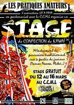 Le CCML organise un stage de fabrication de kawai du 12 au 16 mars 2012
