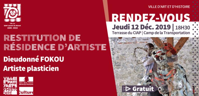 [Rendez-vous du patrimoine] : restitution de la résidence d'artiste de Dieudonné FOKOU