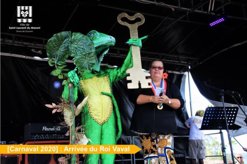 [Carnaval 2020] : un Roi Vaval verdoyant et majestueux ouvre le carnaval 2020 à Saint-Laurent