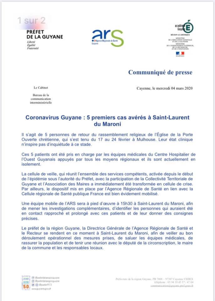 [Coronavirus] : l'Agence Régionale de Santé communique