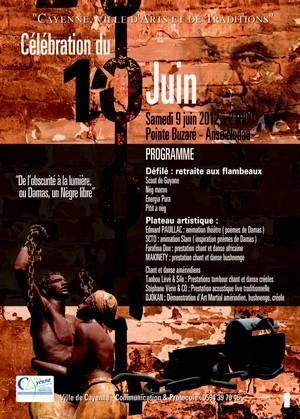 Célébration de l'Abolition de l'esclavage 2012 à Cayenne.