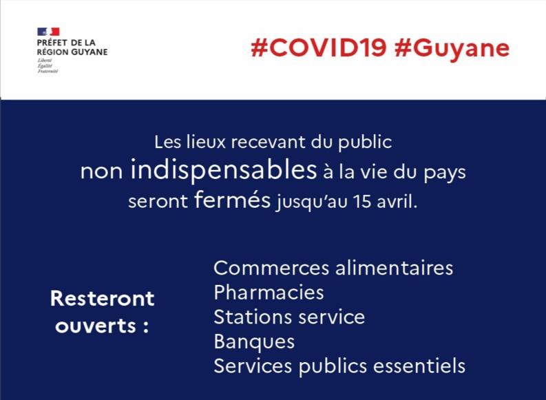 [Coronavirus guyane] : point de situation du 15 mars à 16h25 avec Préfet de la région Guyane