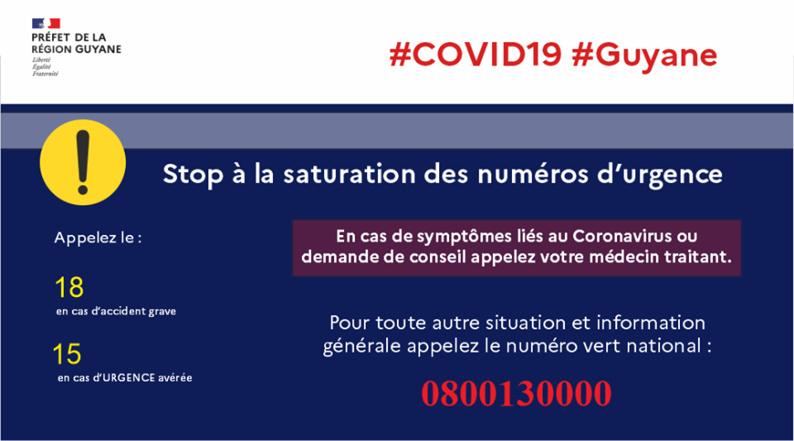 [Coronavirus guyane] : qui contacter en cas d'urgence ou de besoin d'information ?
