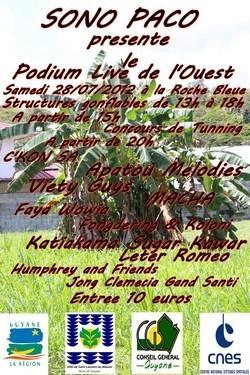 PODIUM LIVE DE L'OUEST 2012.