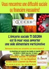 Ouverture d'une épicerie sociale à Saint-Laurent du Maroni, ce vendredi 28 septembre 2012.