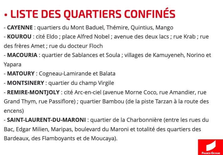 [#coronavirus] : synthèse des principales mesures en vigueur dès aujourd'hui avec France-Guyane