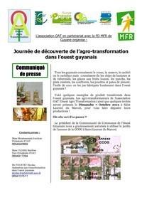 1ère journée des agrotransformateurs de l'ouest guyanais, ce dimanche 07 octobre 2012.