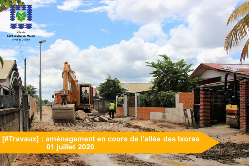[#Travaux] : aménagement en cours de l'allée des Ixoras
