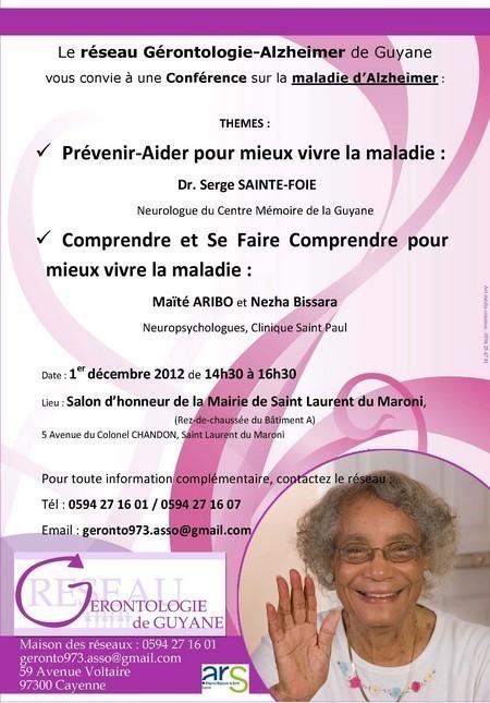 Consultations Mémoire / Conférence sur la maladie d'Alzheimer à Saint Laurent