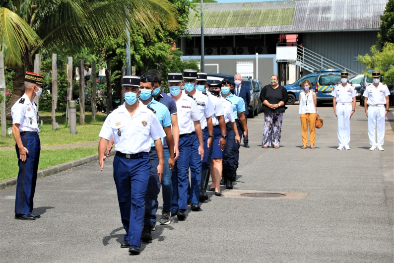 #Sécurité : Prise de commandement du chef d'escadron Thibault-Henri Galaud à la gendarmerie de #SaintLaurentduMaroni