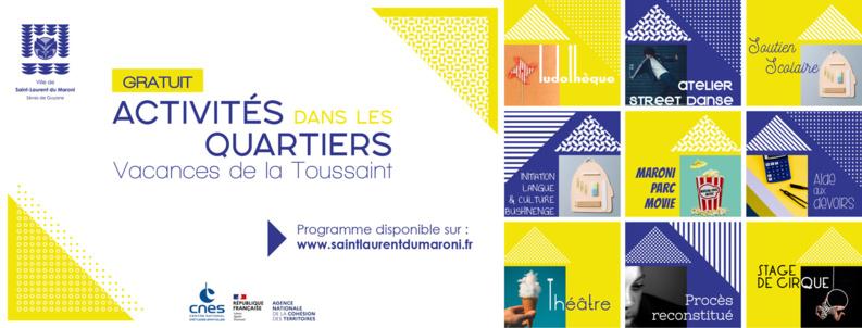 #viedesquartiers : retrouvez le programme des animations dans les quartiers pour les vacances de la Toussaint