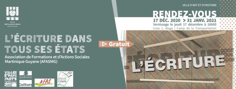 """#Vernissage : L'exposition """"L'ÉCRITURE DANS TOUS SES ÉTATS"""" de l'Association de Formations et d'Actions Sociales Martinique Guyane commence le 17 décembre"""