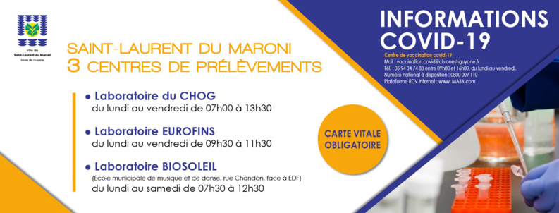 #COVID19 : Drive test Covid-19 à Saint-Laurent du Maroni