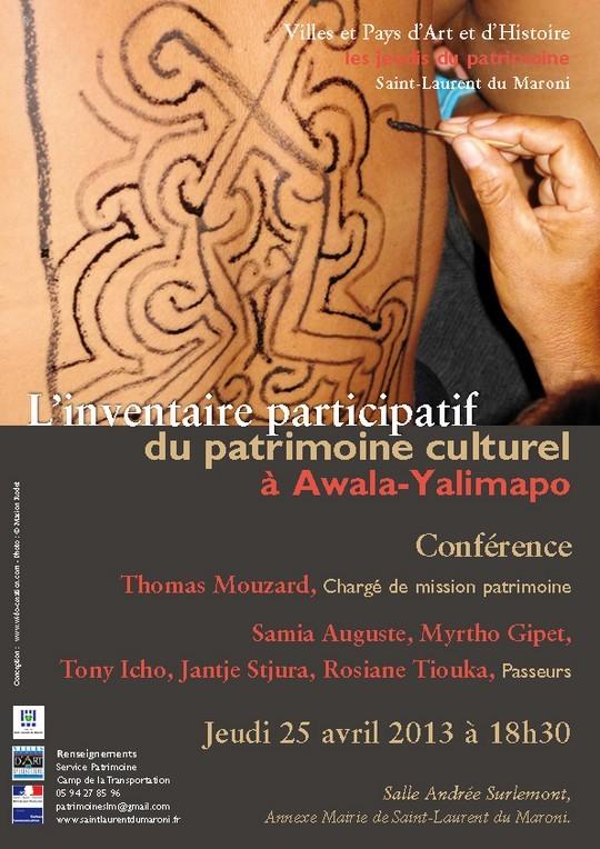 Les Jeudis du Patrimoine : Conférence sur le patrimoine d'Awala-Yalimapo