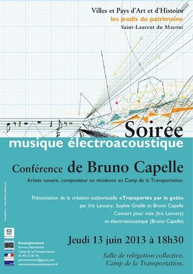 Les jeudis du Patrimoine : Conférence de Bruno Capelle - soirée électroacoustique