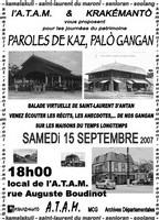 Paroles de Kaz, Palò Gangan