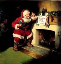 Le Père Noël par Haddon Sundblom - publicité Coca-Cola