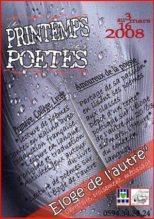 Du 03 au 16 mars : Le Printemps des Poètes