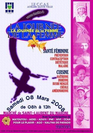 Samedi 08 mars : Journée Internationale de la femme