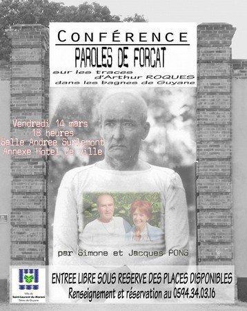 Vendredi 14 mars : Conférence 'Paroles de forçat...'